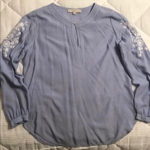 Loft blouse with floral embroidery